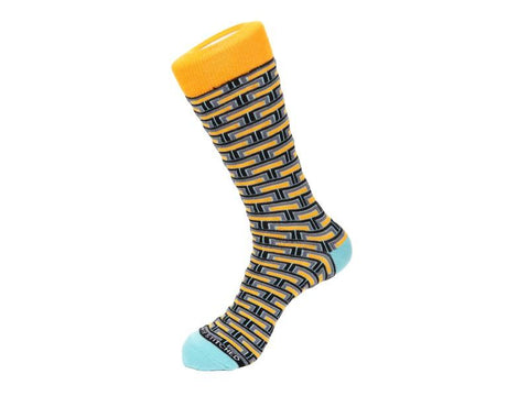 Unsimply Stitched Designer Crew Socks Men 1 Pair