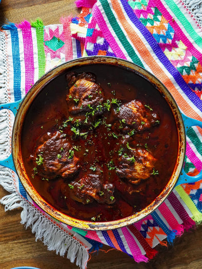PAN FRIED MOLE CHICKEN THIGHS