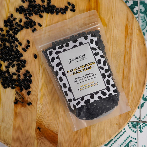HEIRLOOM OAXACA BLACK BEANS - 16oz