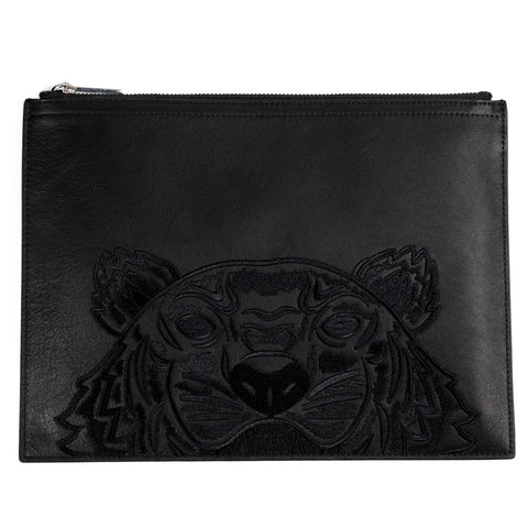 Tiger Leather Pouch