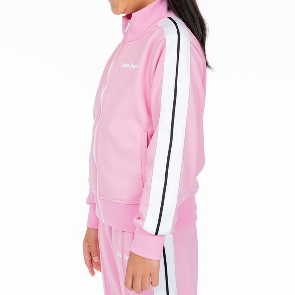 Kids Classic Baby Pink Track Jacket