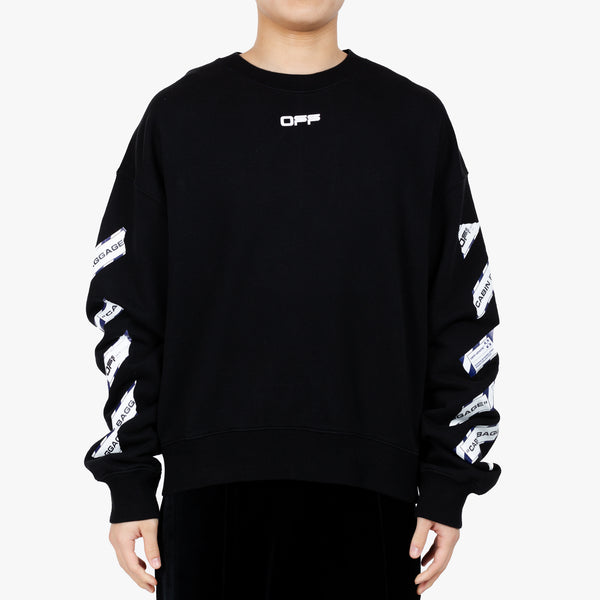 Airport Tape Oversize Sweatshirt