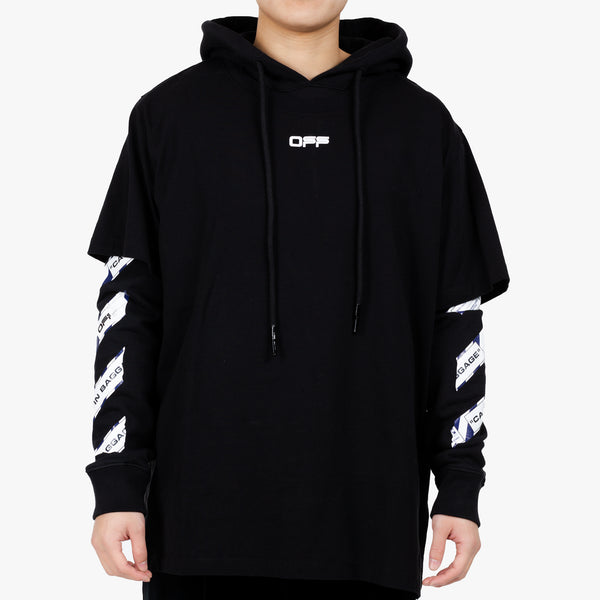 Airport Tape Double Tee Hoody
