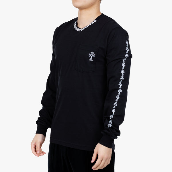 CH Collar Script Cross Long Sleeve T-Shirt