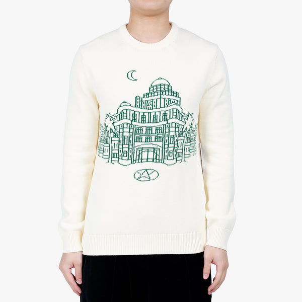 Casino Intarsia Knit Sweater