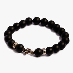 CH Cross Baby Fat Black Bead Bracelet