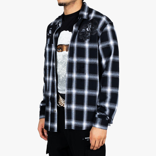 Skull Gang Plaid Shirt