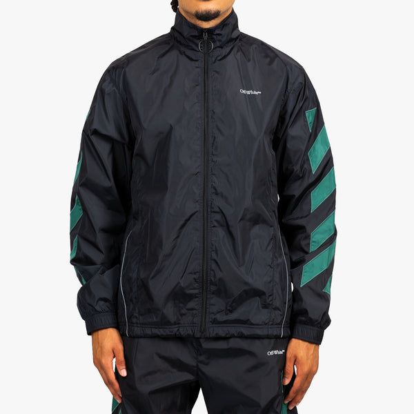 Diagonal Nylon Jacket