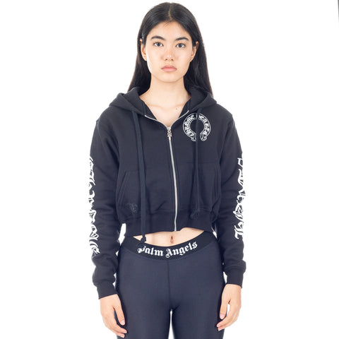 CH Horseshoe Thermal Lined Cropped Hoody