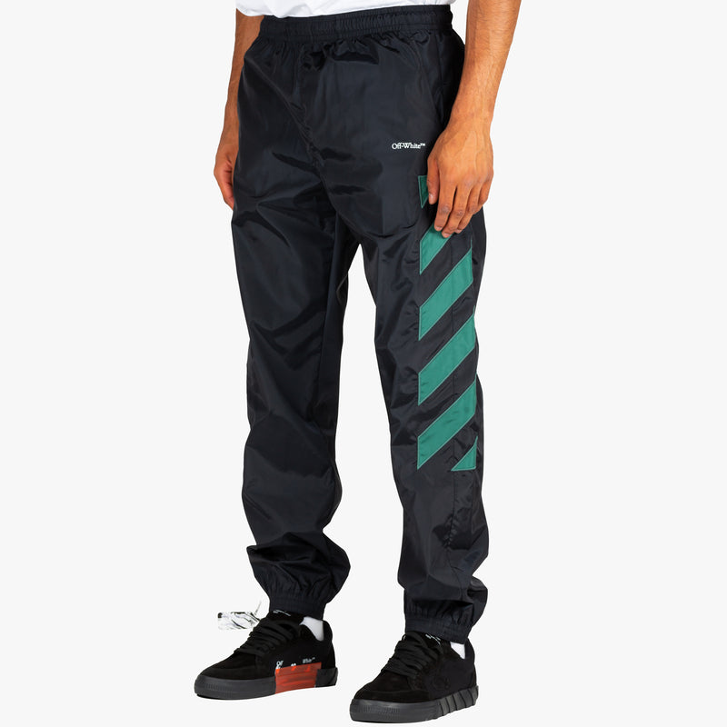 Diagonal Nylon Trackpants