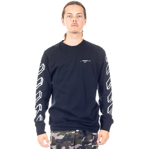 Diagonal Marker Arrows Long Sleeve Tee
