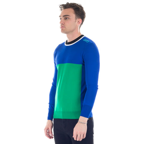 Green Square Knit Sweater