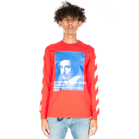Diagonal Bernini Long Sleeve Tee