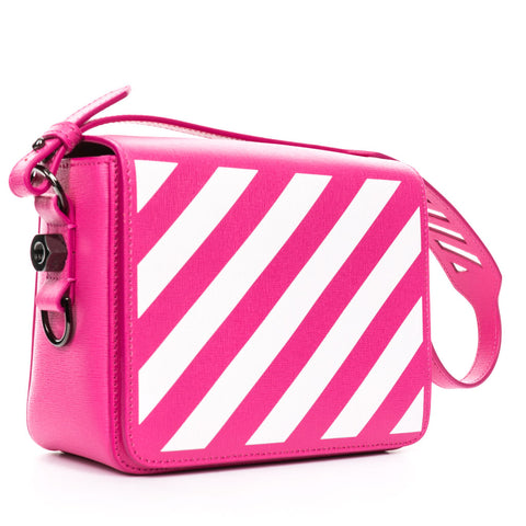 Diagonal Fuchsia Flap Bag