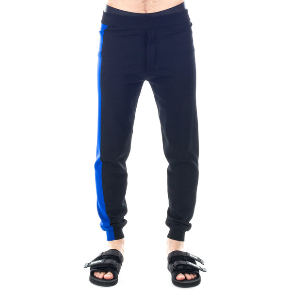 Blue Stripe Knitted Sweatpants