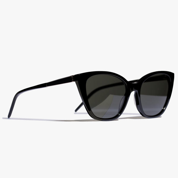Ladies Black SLM69 Acetate Sunglasses