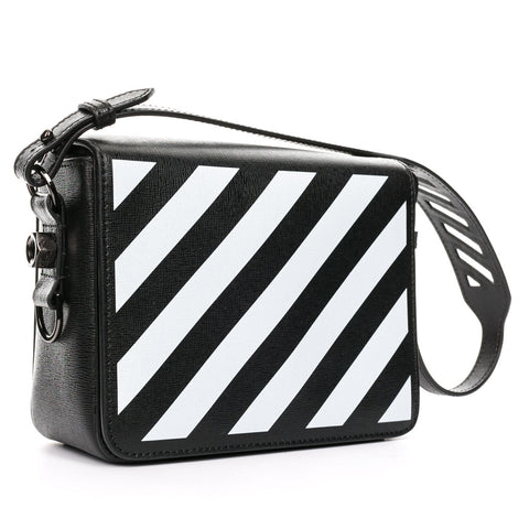 Diagonal Black Flap Bag
