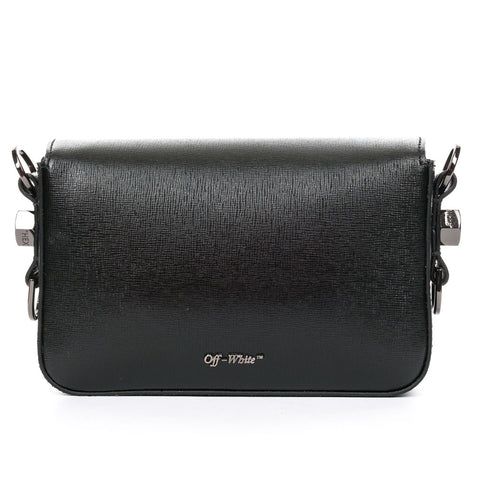 Diagonal Black Mini Flap Bag