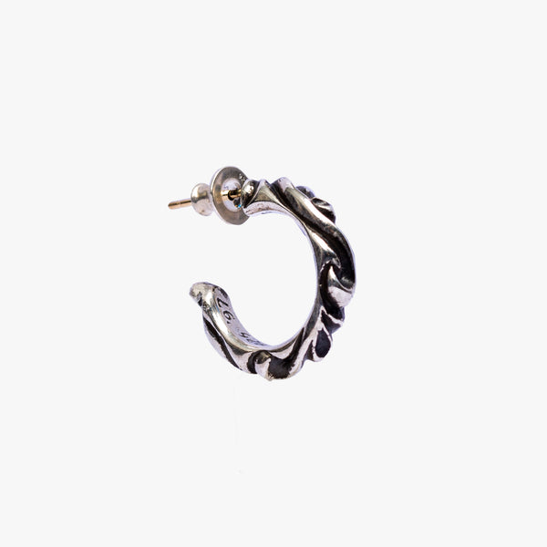 Scroll Hoop Earring