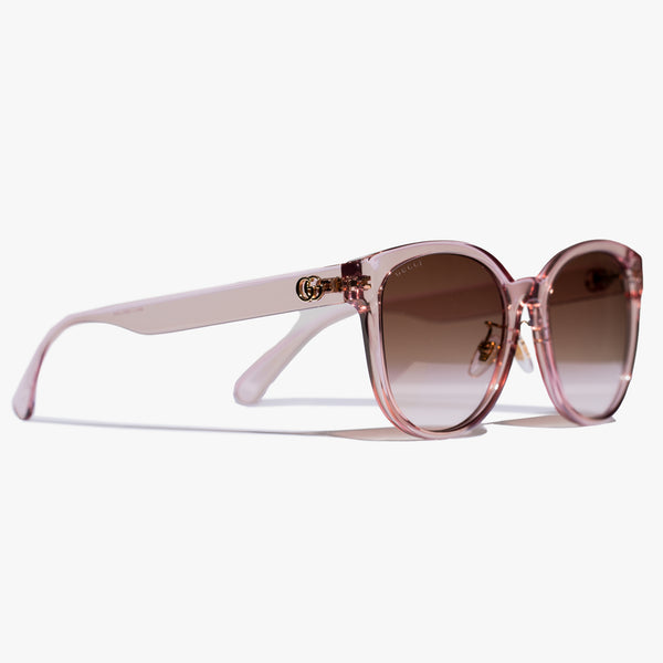 Ladies Pink GG Round Injection Sunglasses