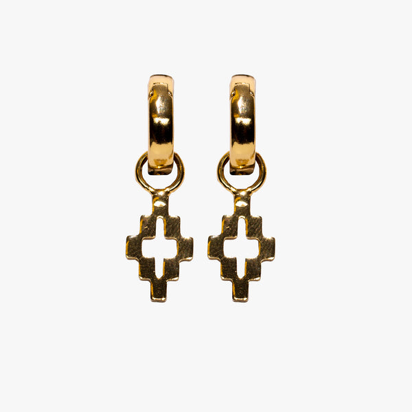 Cross Pendant Gold Earrings