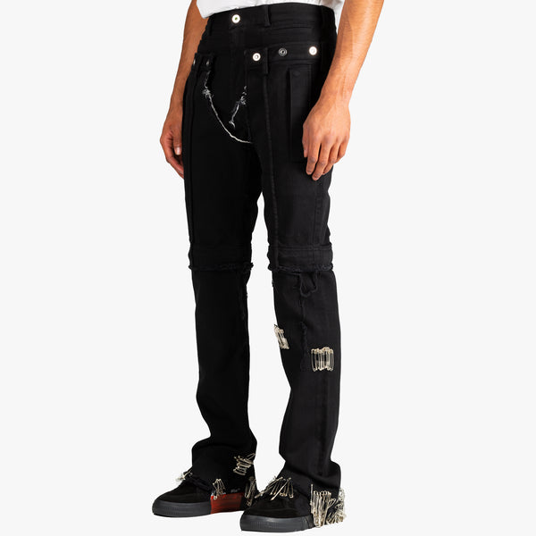 Safety Pin Distressed Jeans