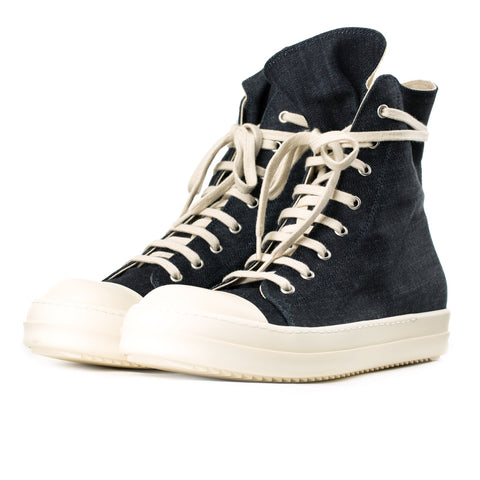 Denim High-Top Sneakers