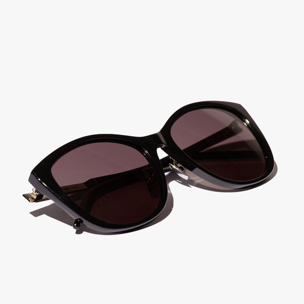 Ladies Black Cat-Eye Sunglasses