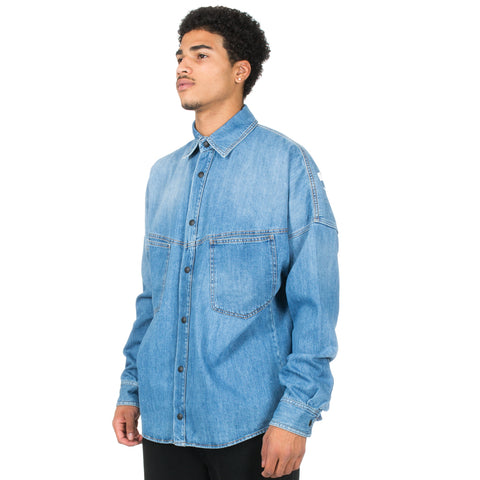 Logo Oversize Denim Shirt