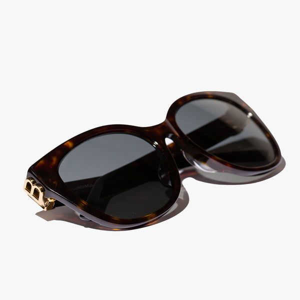 Ladies Tortoiseshell Cat-Eye BB Sunglasses