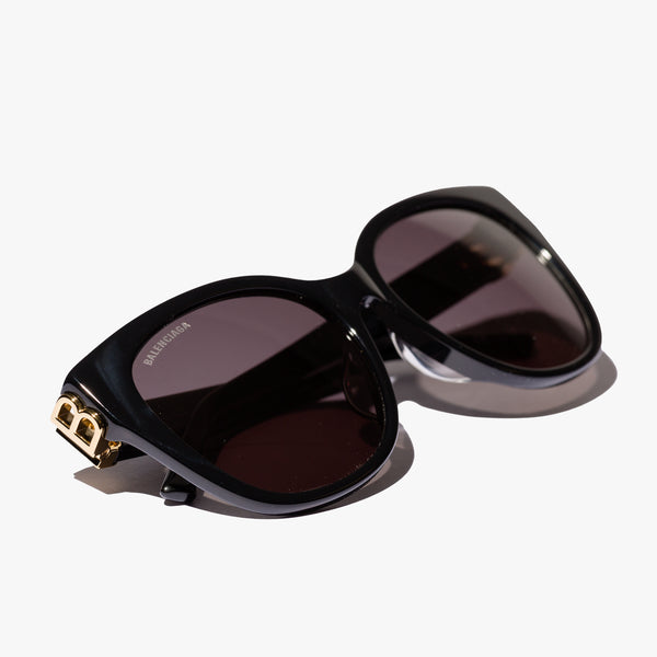 Ladies Black Cat-Eye BB Sunglasses