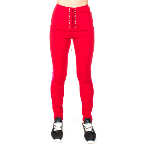 Lace Up Skinny Track Pants