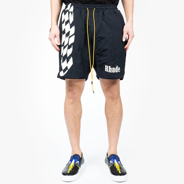 Checker Track Shorts