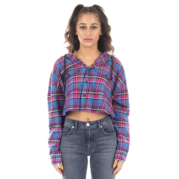 Cropped Hooded Shirt