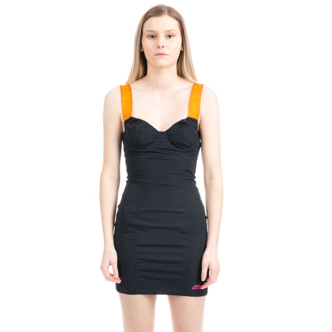 Reflective Zip Bustier Dress
