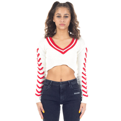 Cropped Tennis Knit Top