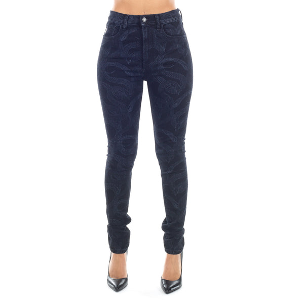All Over Snake Skinny Jeans