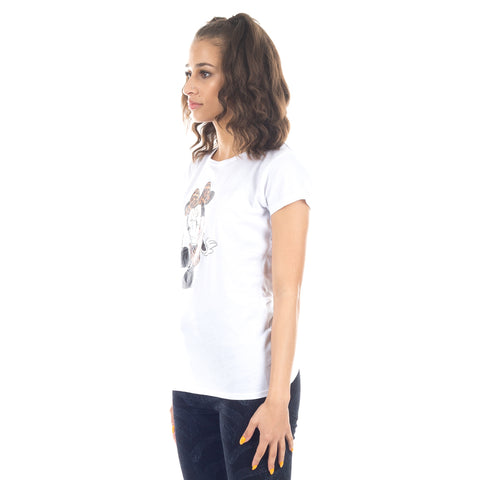 Ladies Minnie Mouse Leopard Tee