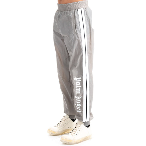 Over Logo Light Grey Track Pants