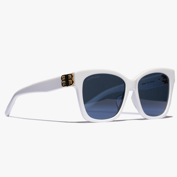 Ladies White Round Acetate BB Sunglasses