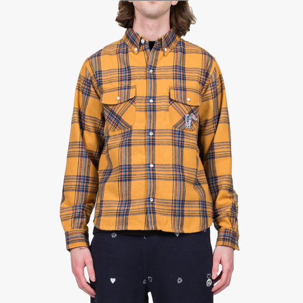 Astro Man Yellow Check Shirt