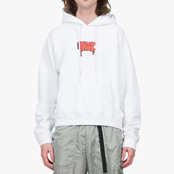 White Graffiti Over Hoodie