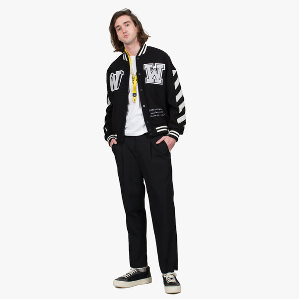 Diagonal Varsity Jacket