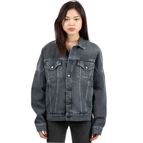 Logo Oversize Denim Jacket