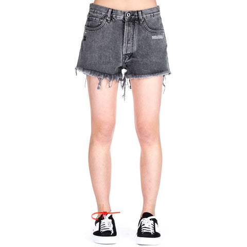 Raw Cut Denim Shorts