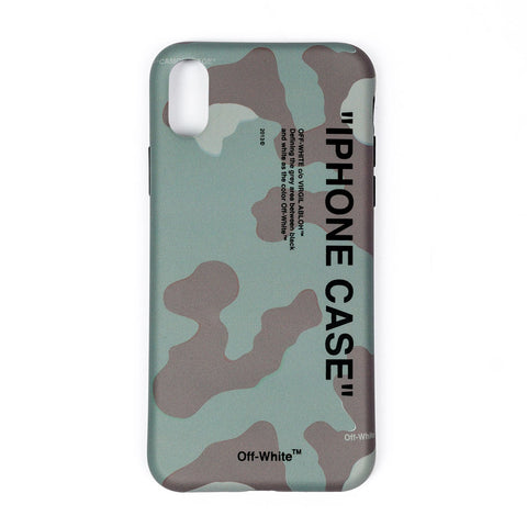 Quote Camouflage iPhone X Cover