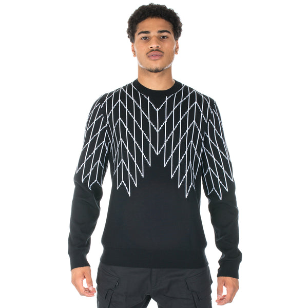 Football Net Knit Sweater