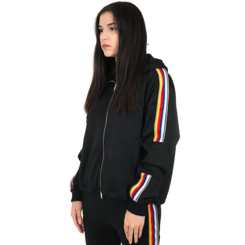 Rainbow Band Track Hoody