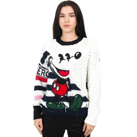 Intarsia Mickey Mouse Sweater