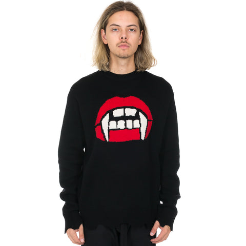 Fang Lip Knit Sweater